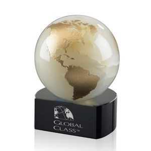 "Globe on Crescent - White 4½"" High"