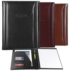 Black Atlantis Leather Non Zippered Padfolio