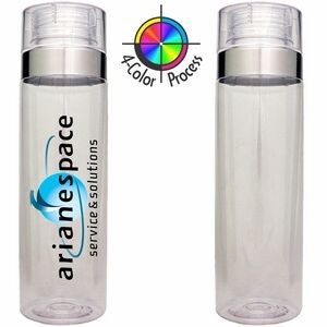 27 Oz. Clear Cylinder Vortex Hydration Water Bottle (4 Color Process)