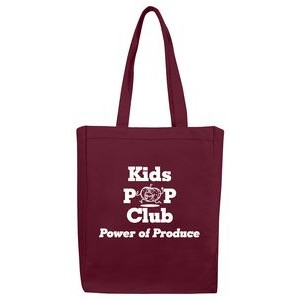 "Color Cotton Canvas Tote Bag w/ Full Gusset - 1 Color (11""x14""x5"")"