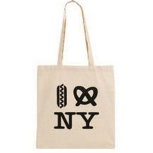 "Organic Natural Canvas Convention Tote Bag with Shoulder Strap - 1 Color (15""x16"")"