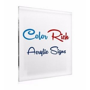 Premium Color Rich Acrylic Signage 1