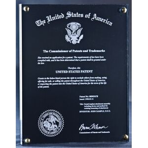 Atlantic Patent Plaque - Large